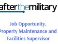 Job Opportunity. Property Maintenance and Facilities Supervisor